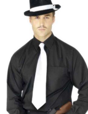 Gangster Fancy Dress Tie - White